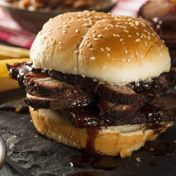Brisket on a bun